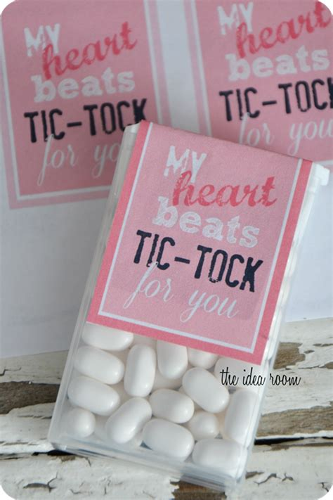 tic tac tok tik printable valentines valentine tacs printables birthday toc gift diy cute idea tock classroom labels treats room