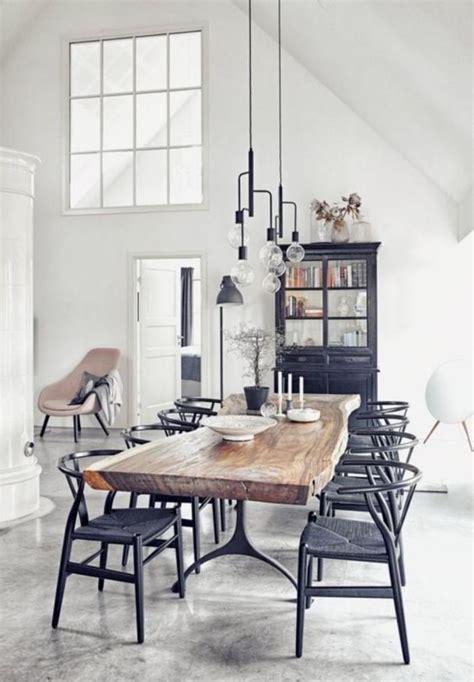 chaise bistrot blanche l 39 aménagement d 39 une salle à manger style industriel en 48 photos archzine fr