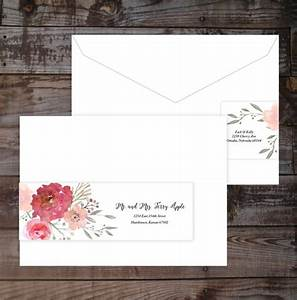 wrap around label address guest addressed and rustic With wedding invitations guest address printing
