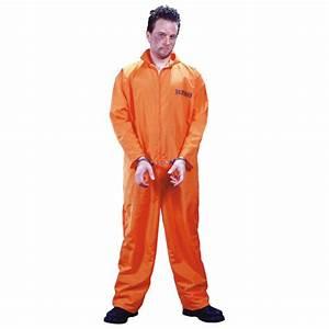 Got Busted! Orange Convict Jumpsuit Prisoner Costume
