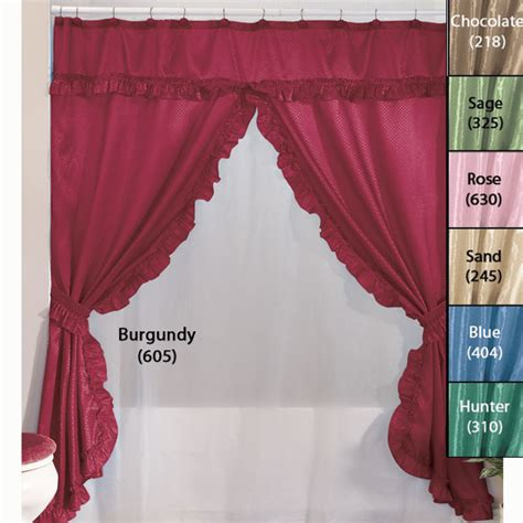 swag shower curtains with valance home walter