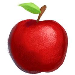Transparent Red Apple Fruit