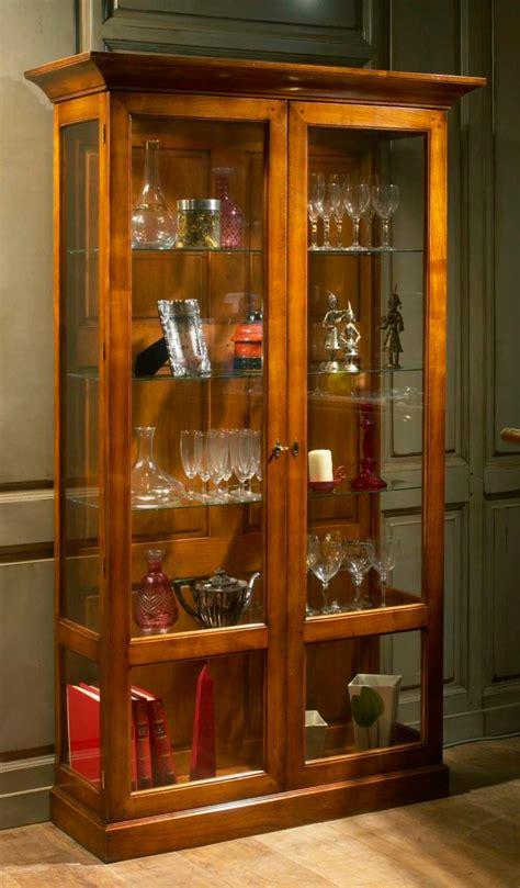 vitrine verre et bois meubles richelieu vitrine 2 portes de style directoire
