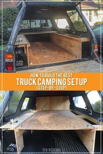 build  ultimate truck bed camper setup step