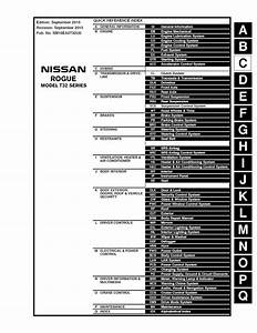 2016 Nissan Rogue T32 Series Service Manual