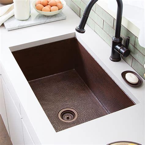 undermount copper kitchen sinks cocina 33 copper kitchen sink trails 6578