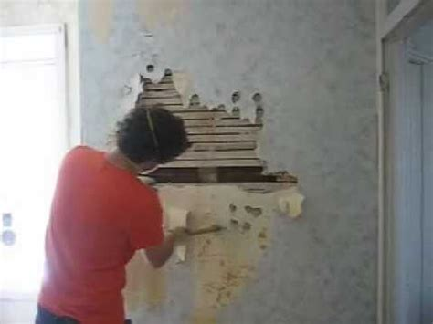 tearing   lath  plaster wall  explains