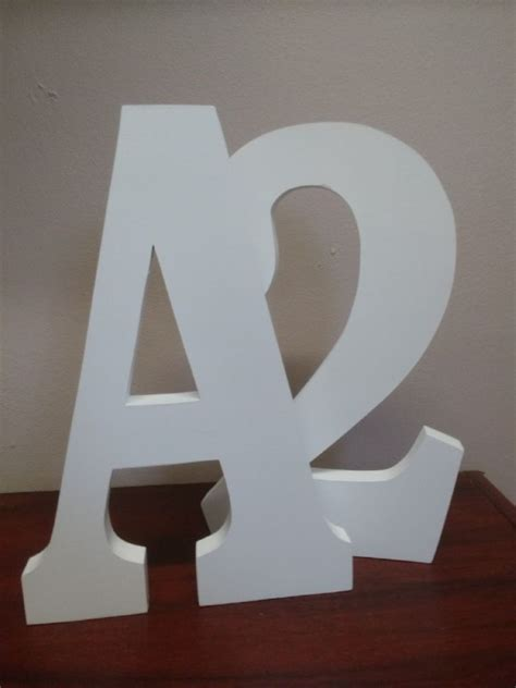 standing large wooden letters  cm  painted wooden