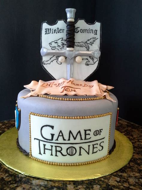 game  thrones cakes images  pinterest conch