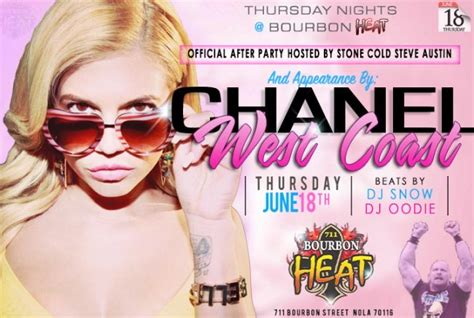 chanel west coast  afterparty bourbon heat