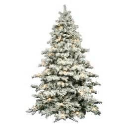 flocked alaskan 9 white artificial christmas tree with 900 dura lit and g50 clear lights with