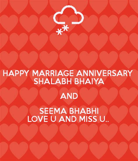 happy marriage anniversary shalabh bhaiya  seema bhabhi