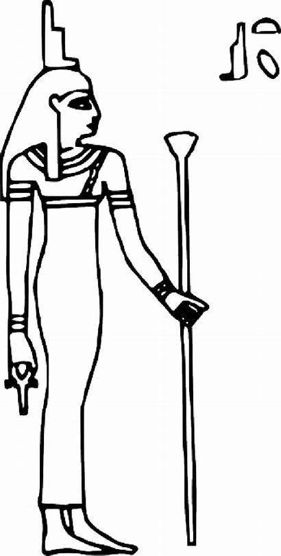 Egyptian Goddess Outline Egypt Ancient Symbol Queen