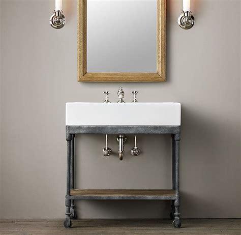 bathroom sink industrial console powder room vanity also need to Industrial