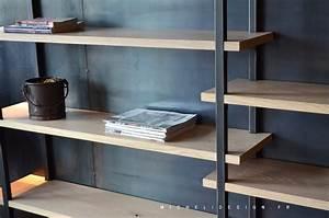 Etagere Sur Mesure En Ligne : biblioth que contemporaine acier bois sur mesure micheli ~ Edinachiropracticcenter.com Idées de Décoration
