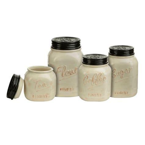 black canisters for kitchen ivory and black kitchen canisters set of 4 canister