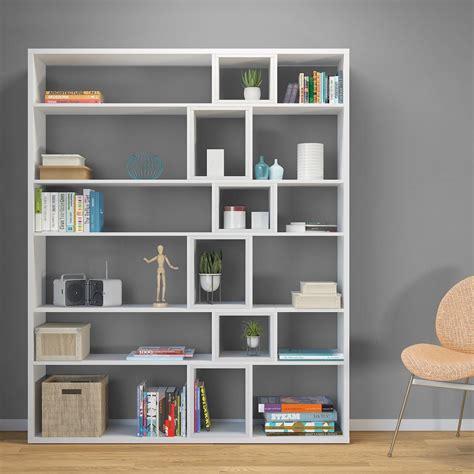 librerie design moderno libreria design moderno in legno bianco o naturale coventry