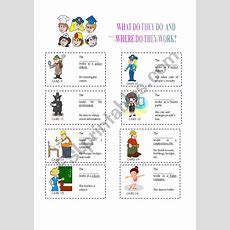 Jobs And Places Cards Set 2  Esl Worksheet By Evaramos