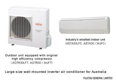 releasing 3 of large size wall mounted inverter air conditioners for australia fujitsu