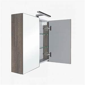 aquasun meuble salle de bain haut double miroir avec led With meuble haut salle de bain gris