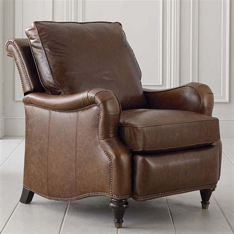 oxford leather recliner with arm bassett chairs