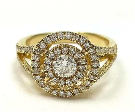 halo setting engagement ring antique ring double band ring