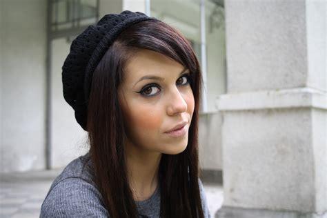 pin avec meche acajou violet cheveux brun couleur de zlub designs on
