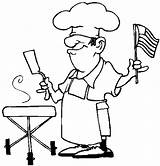 Coloring Pages July Bbq 4th Chef Independence Printable Apron Coloringbookfun Fourth Indian Getcolorings Colouring Getdrawings Col India sketch template