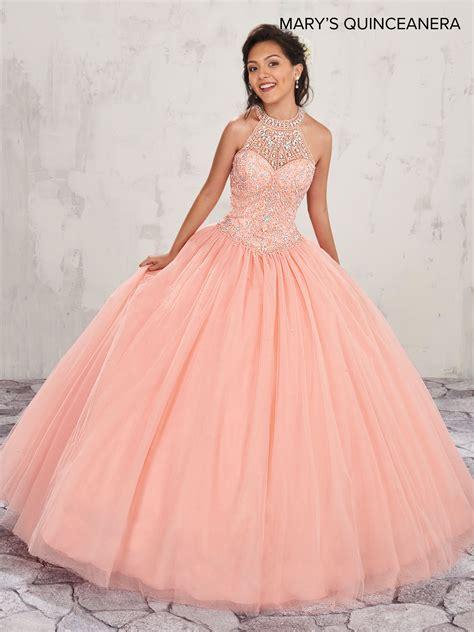 marys quinceanera dresses style mq  peach royal
