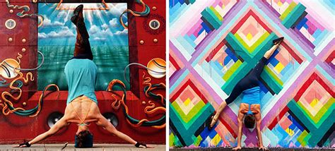 Graffiti Yogs : Striking Yoga Poses And Colorful Street Art Are Perfect