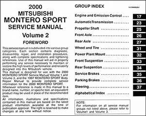 2000 Mitsubishi Montero Sport Repair Shop Manual Set Original