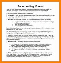 6 writing report exle resume sections