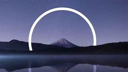4k Geometric Landscape Fuji Mount Wallpapers Desktop