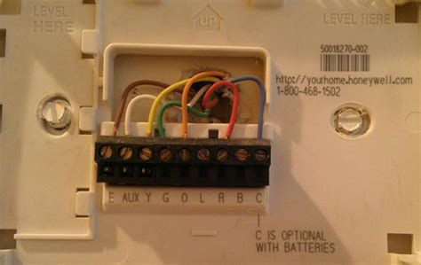 question   honeywell thermostat wiring