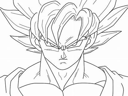 Goku Ball Dragon Vegeta Super Saiyan Coloring