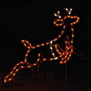shop holiday lighting specialists 4 67 ft animated reindeer outdoor christmas decoration with