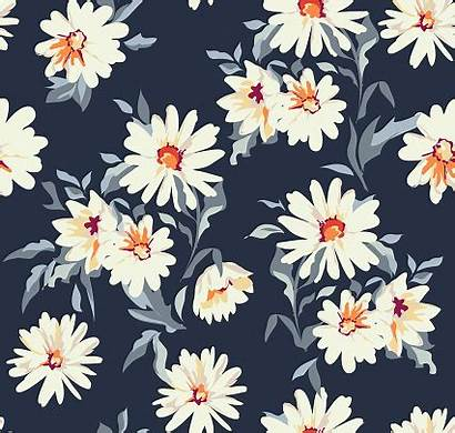 Floral Daisy Background Pretty Seamless Vector Designs