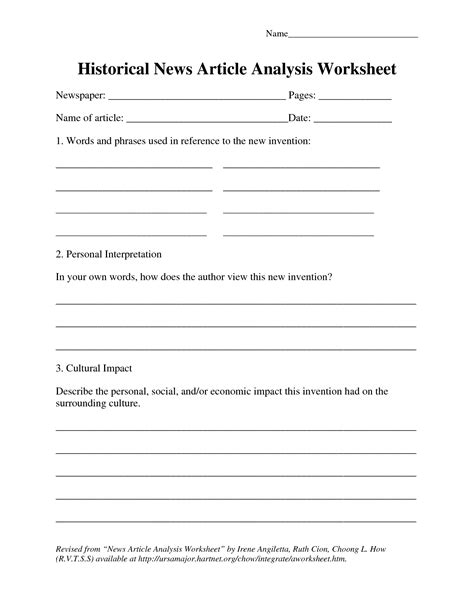 Best Photos Of News Article Summary Worksheet  Newspaper Article Summary Sheet, Newspaper