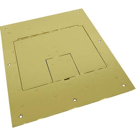 fsr floor boxes fl 500p fsr flat cover for fl 500p floor box brass fl 500p brs b h