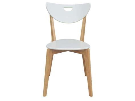 Chaise Skine Coloris Blanc  Vente De Chaise Conforama