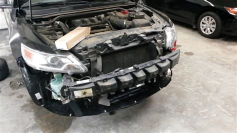 ford taurus front  collision repair deer