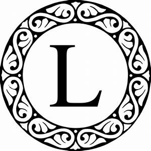 circle sroll letter l monogram clip art at clkercom With monogram letter l