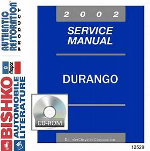 2002 Dodge Durango Truck Shop Service Repair Manual Cd