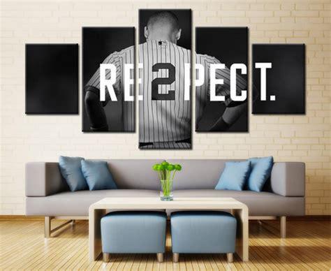 york yankees captain baseball sport  panel canvas