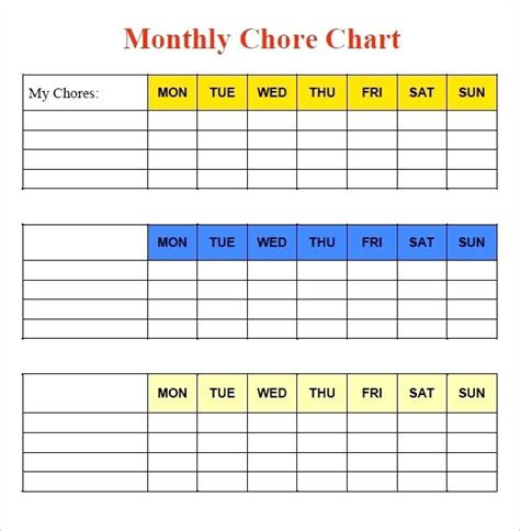 Free Printable Toddler Chore Chart Template Toddler Chore Chart Printable Template Applynow Info