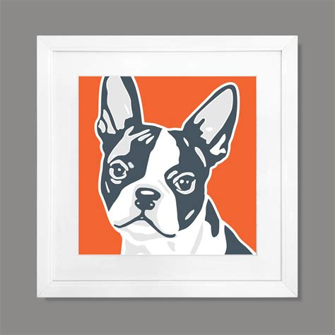 Classic Style  Boston Terrier Art Print (print Only)  Naked Decor Prints  Touch Of Modern