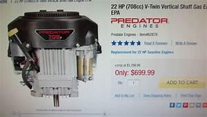 708cc 22hp Predator V-twin Replacement Engine