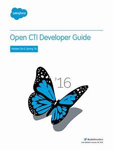 Salesforce Open Cti Developer Guide