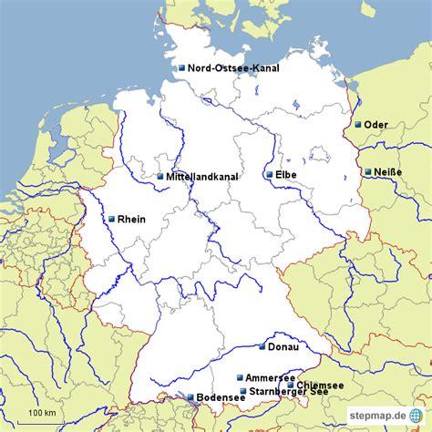 de fluesse  kanaele von lucie landkarte fuer deutschland