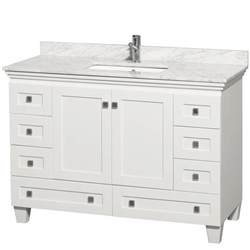 white vanity bathroom ideas acclaim 48 quot white bathroom vanity set